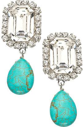 A.V. Max Rhinestone Turquoise Drop Earrings