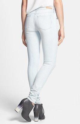 Articles of Society 'Mya' Railroad Stripe Skinny Jeans (Juniors)