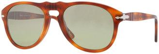 Persol Retro Keyhole Round Sunglasses, Terra Di Siena