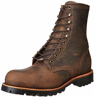 """Chippewa Men's 8"""" Steel Toe EH 20086 Lace Up Boot"""