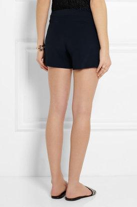 Thakoon Pleated crepe shorts