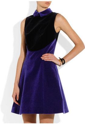 Christopher Kane Two-tone velvet dress