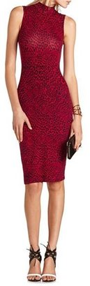 Charlotte Russe Mock Neck Printed Midi Dress