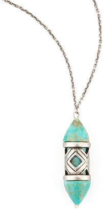 Pamela Love Turquoise Cutout Pendant Necklace