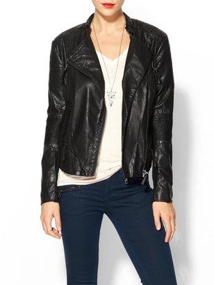 Blank Black Vegan Leather Jacket