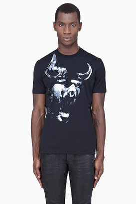 Givenchy Black Bull Print T-Shirt