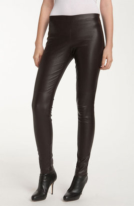 Vince Ankle Zip Leather Legging