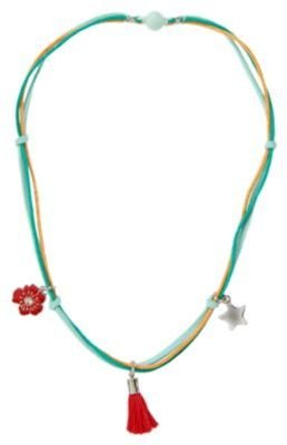 Crazy 8 Knotted Flower Charm Necklace