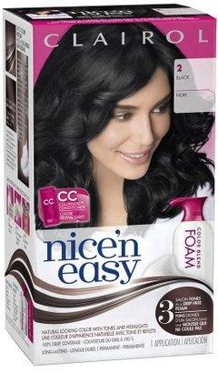 Clairol Nice 'n Easy Color Blend Foam Permanent Hair Color Black 2