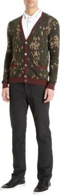 Marc by Marc Jacobs Button Front Camo Cardigan
