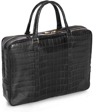 Brooks Brothers Soft Alligator Briefcase