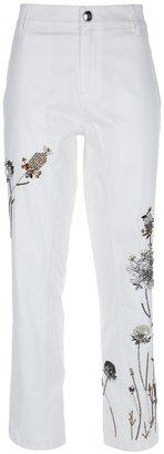 Blumarine embellished wide leg jean
