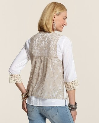 Chico's Lace Embellished Vest