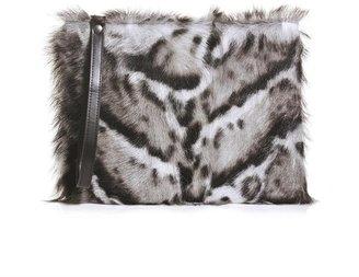 Christopher Kane Jaguar-print clutch