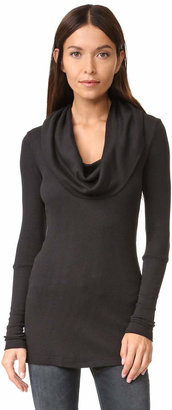 Splendid Thermal Long Sleeve Cowl Neck $78 thestylecure.com