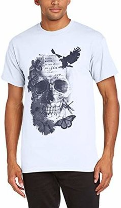 Minted FASHION Men's Floral Skull T-Shirt