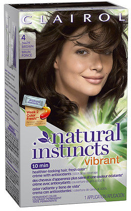 Clairol Natural Instincts Vibrant Permanent Hair Color Dark Brown 4