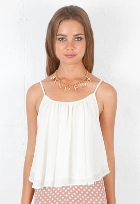 Wildfox Couture Logo Necklace in Gold