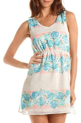 Charlotte Russe Strappy Back Paisley Floral Dress