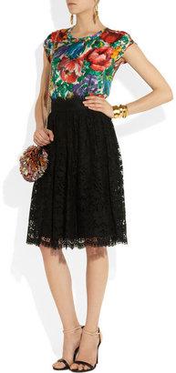 Dolce & Gabbana High-waisted lace skirt