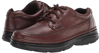 Nunn Bush Cameron Comfort Walking Oxford (Brown Tumbled Leather) Men's Lace Up Moc Toe Shoes