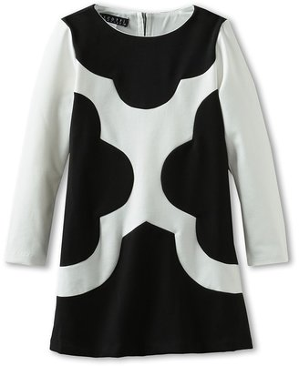 Biscotti Mod Squad L/S Dress (Little Kids) (Black/Ivory) Girl's Dress
