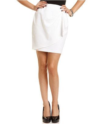 Amy Byer Juniors Skirt, Draped Pencil