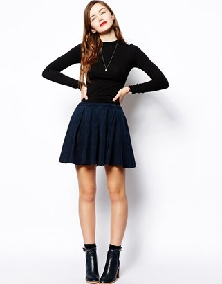 Asos TALL Crop Top With Long Sleeves and Turtle Neck