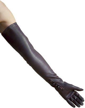 "Dents Long Leather Dress Gloves - Ladies/Womens (Sizes 8.0"" Brown)"