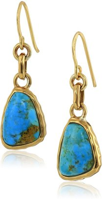 "Barse Basics"" Genuine Turquoise Drop Earrings"