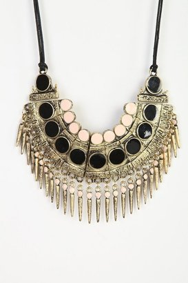 Urban Outfitters Spiked Bib Necklace