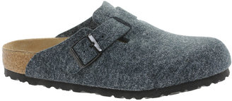 Birkenstock Boston Gray Wool Clog Shoes