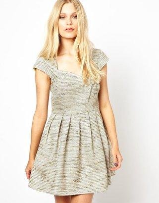 Vero Moda Dress In Tweed