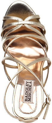 Badgley Mischka Adonis-2 Evening Sandal Silver Leather