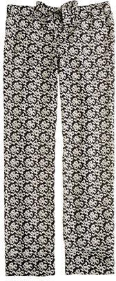 J.Crew Collection silk ribbon bow-print pajama pant