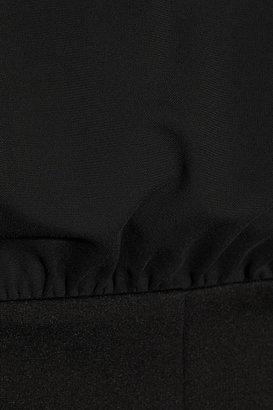 Miu Miu Open-back stretch-crepe and stretch-jersey dress
