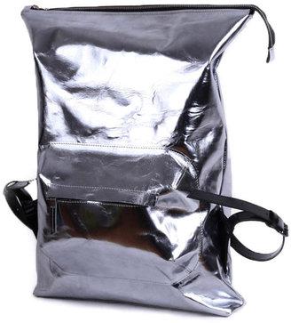 Silver urban backpack-bag