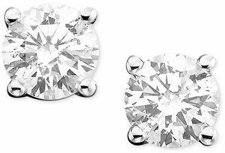 Macy's Diamond Stud Earrings (1/2 ct. t.w.) in 14k White Gold or Gold