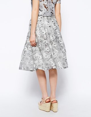 Fashion Union Cutwork Midi Skirt