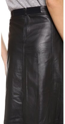 Alice + Olivia Kailey Leather Midi Skirt