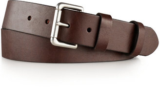 Polo Ralph Lauren Men's Big and Tall Italian Saddle Leather 1 1/2'' Roller Belt $70 thestylecure.com