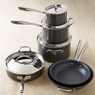 Williams-Sonoma Hard-Anodized Nonstick Copper Core 10-Piece Cookware Set
