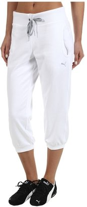 Puma Capri Sweat Pant (White) - Apparel