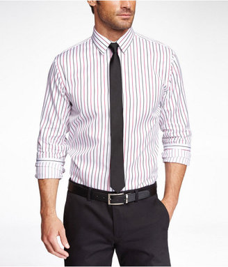 Express Fitted Striped Dress Shirt