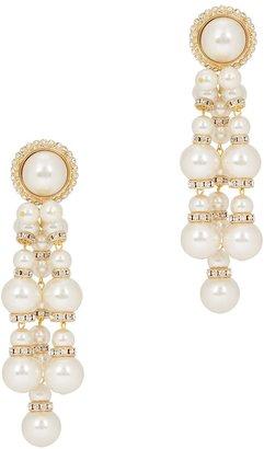 Alessandra Rich Faux Pearl-embellished Clip-on Earrings
