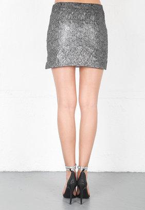 Style Stalker Light Speed Skirt in Silver