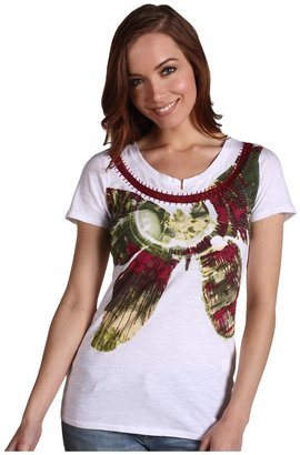 Lucky Brand Butterfly Tee (White) - Apparel