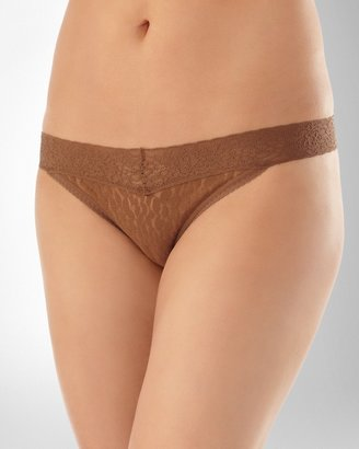Soma Intimates Embraceable All Over Lace Thong