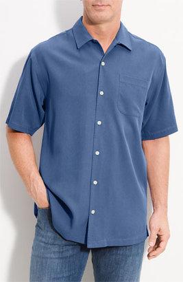 Tommy Bahama 'Catalina Twill' Silk Campshirt Stripe Blue Small