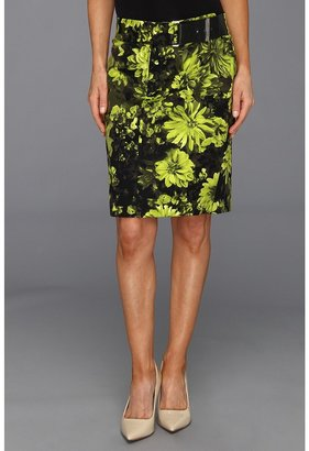 MICHAEL Michael Kors Petite English Garden Pencil Skirt (Pear) - Apparel